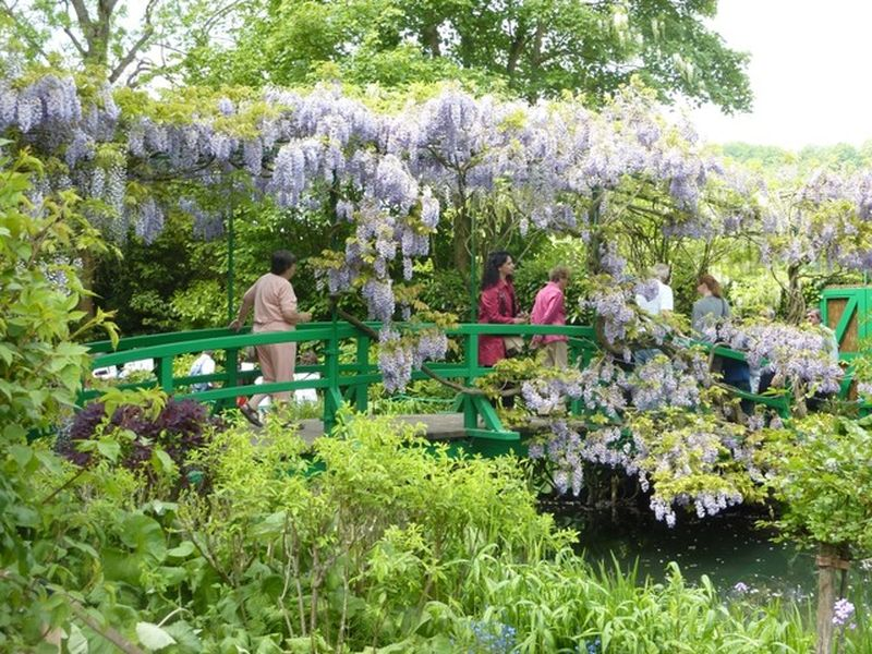 people visiting monet's garden in giverny france