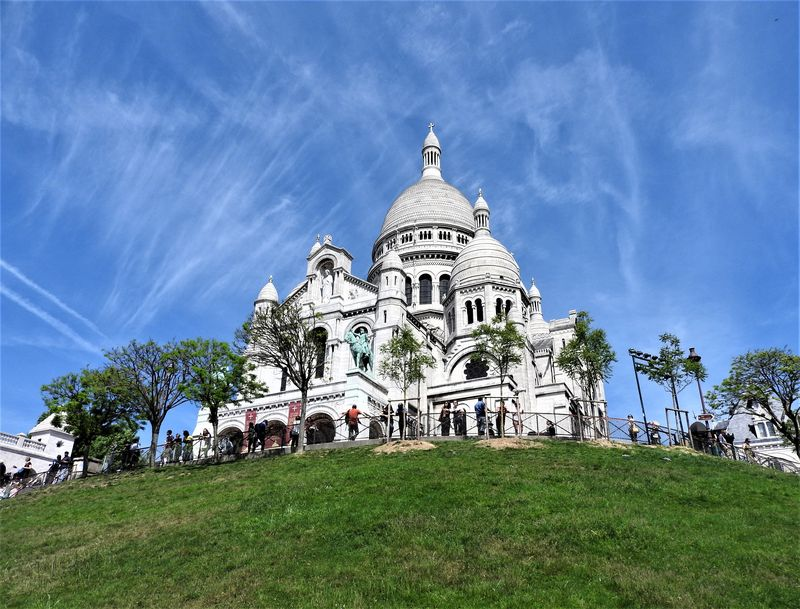 large hill of montmartre paris