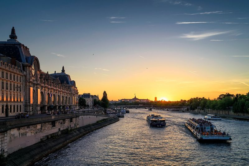 seine river and orsay museum
