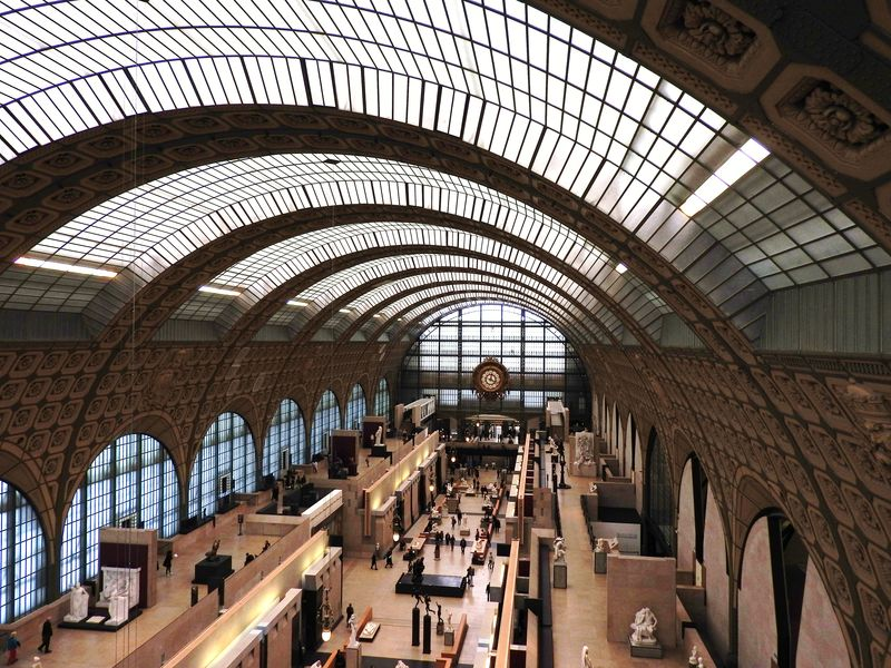 glass roof of orsay museum