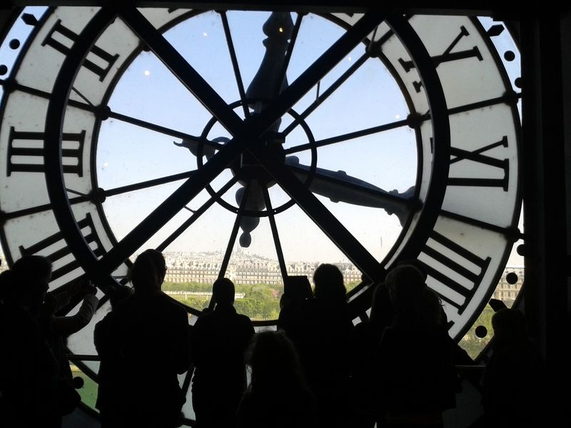 view through the clock at orsay museum