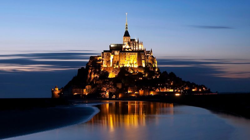 mont saint michel france island