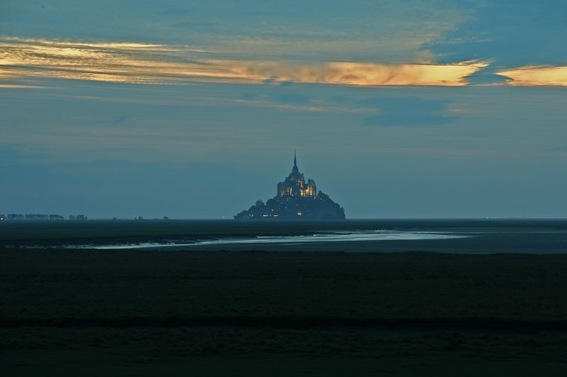view on mont saint michel france