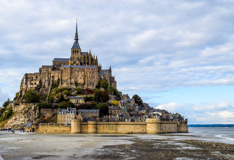 medieval village of mont saint michel france
