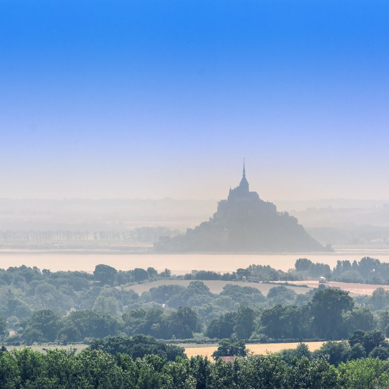 mont saint michel france on the horizon