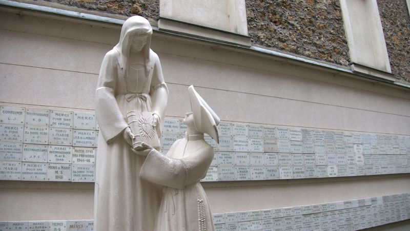 outside the chapel of our lady of the miraculous medal