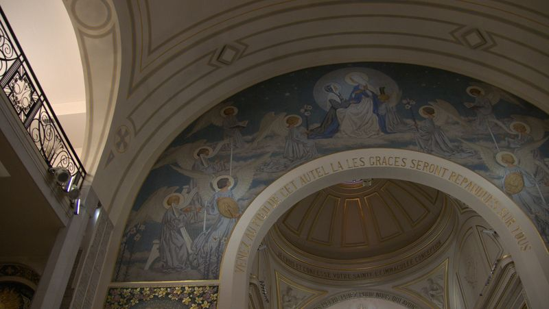 fresco depicting the apparition and the miraculous medal