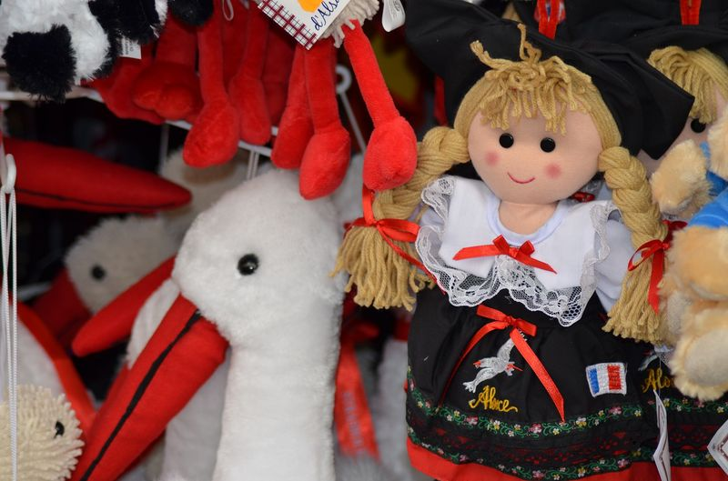 plush toys at strasbourg christmas market
