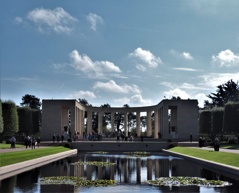 view on the colonnade in american cemetery normandy col