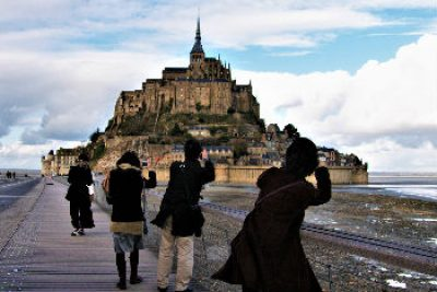 Visita familiar de mont saint michel francia