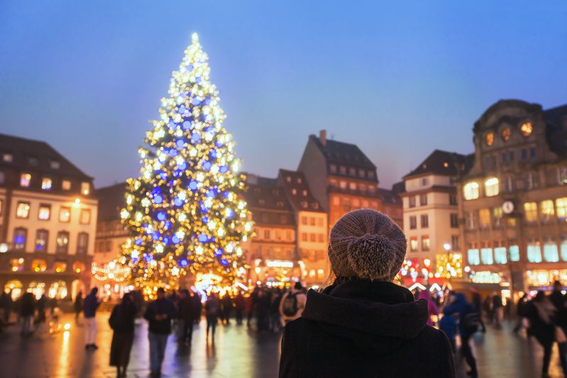 strasbourg christmas market on place kléber