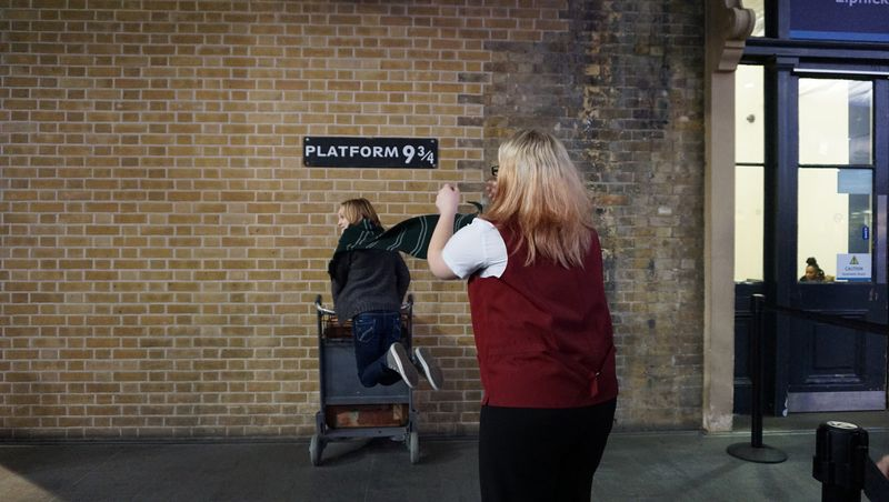 plataforma 9 3 / 4 harry potter londres