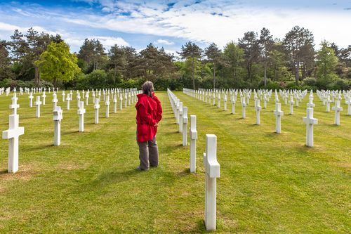 american cemetery normandy walking tour