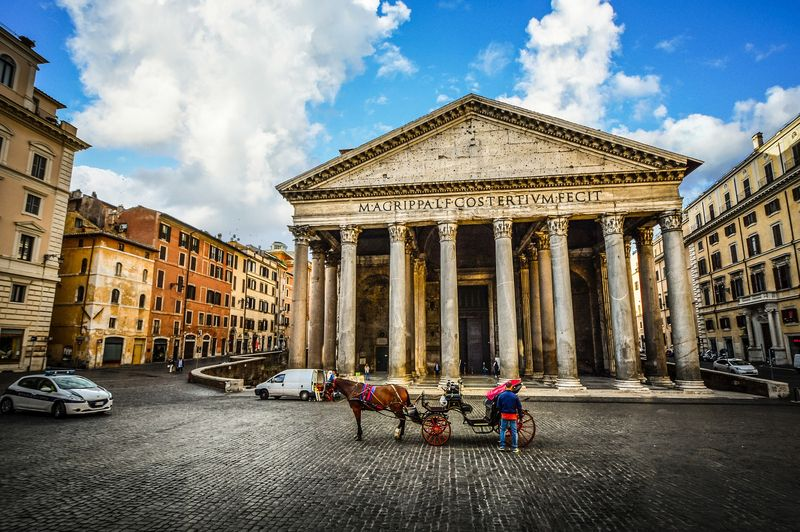 the outside of the pantheon