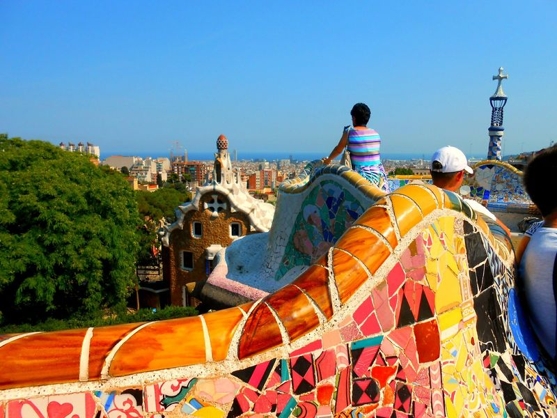 amazing views from park guell barcelona