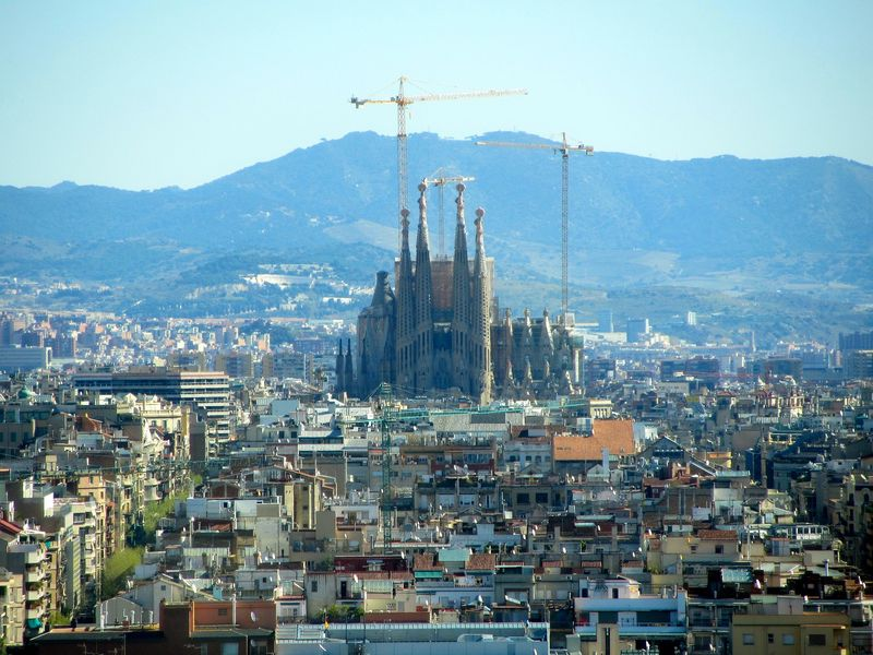view on the sagrada familia barcelona