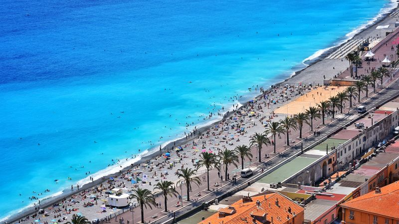 nice beach and promenade des anglais with universal tour guide