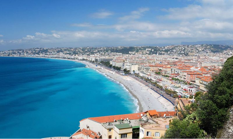 promenade des anglais view from castle of nice