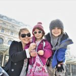 family visiting orsay museum with universal tour guide