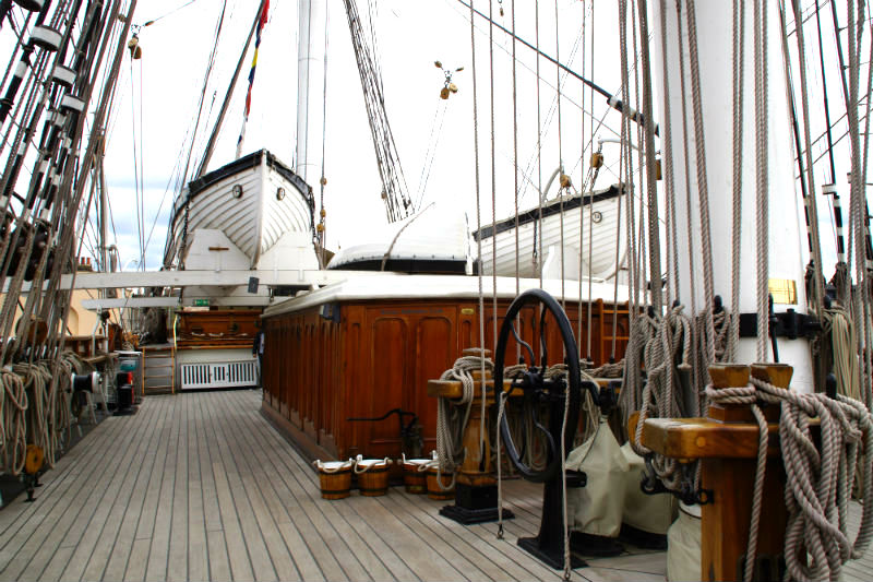 deck of the cutty sark in greenwich