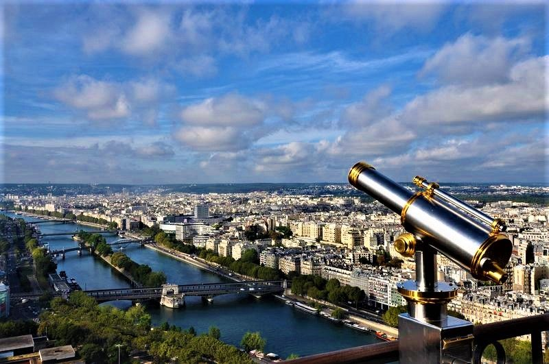 paris eiffel tower offers a wonderful view on the seine river