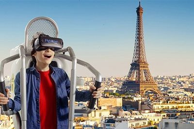 flyview over paris with universal tour guide