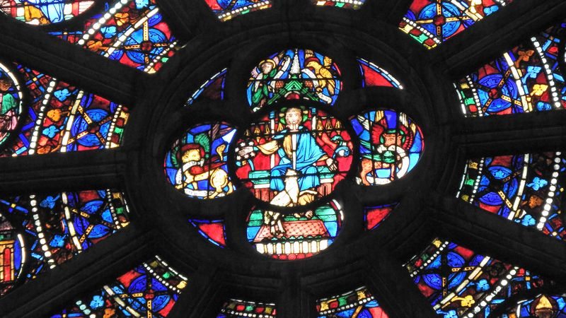 three rose windows in notre dame cathedral