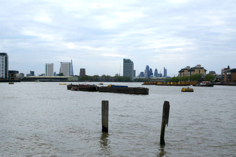 river thames view from greenwich wharf