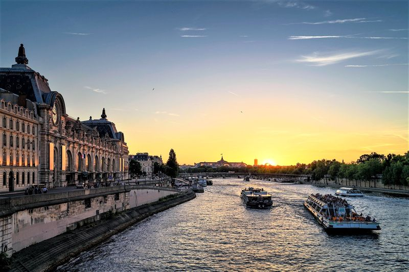 discover paris seine river at dawn