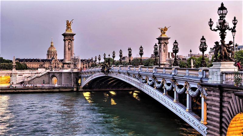 look at pont alexandre III with our seine river cruise paris