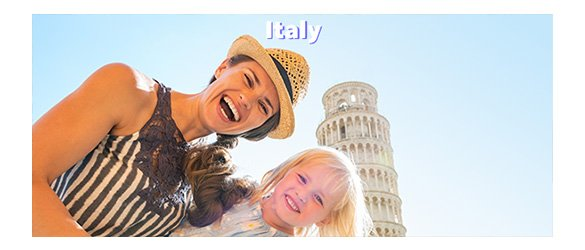 visit Italy with Universal tour guide
