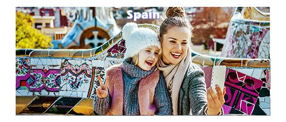 visit Spain with Universal tour guide