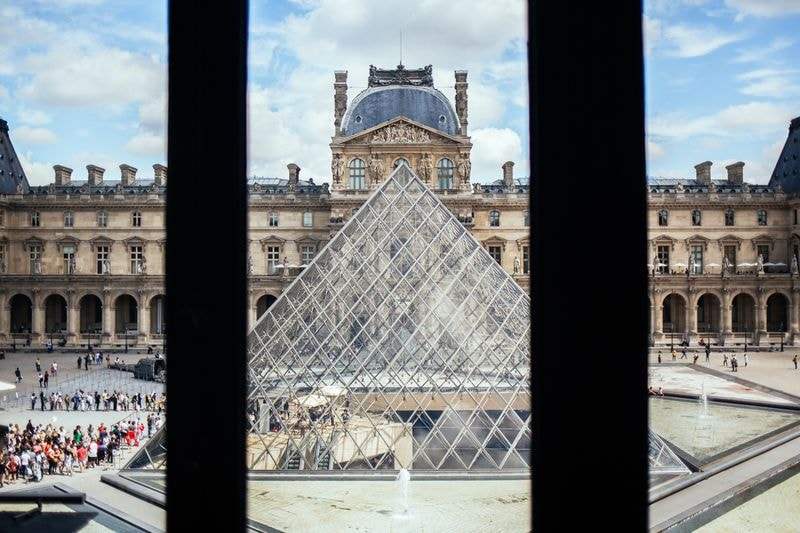 What to do in Paris Louvre Museum Behind a Window