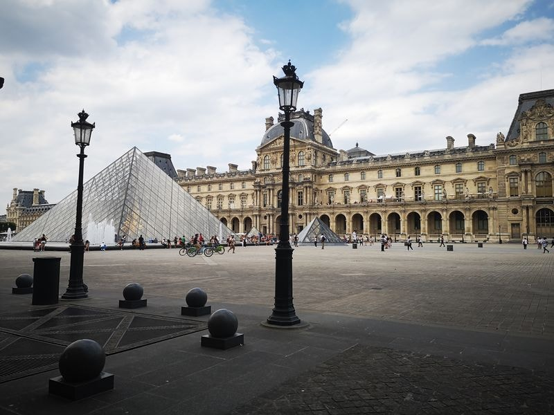 What to do in Paris Louvre Museum from the Court