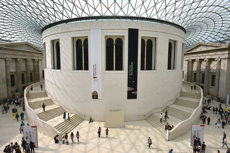 Dentro del British Museum of London