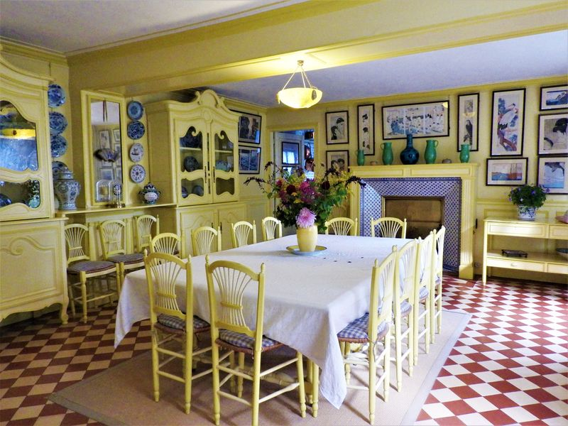 Monet's dining room in Giverny