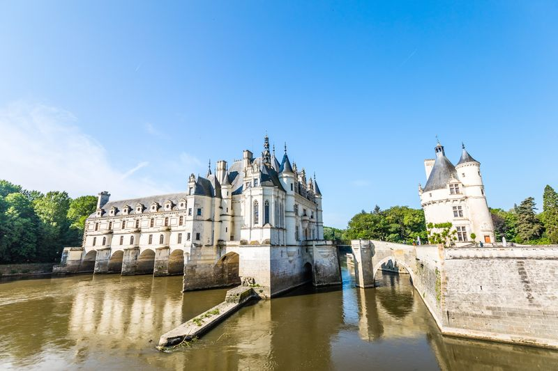 Chenonceaux Castle in summer