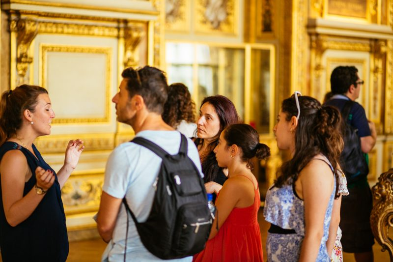 A group inside Versailles Palace